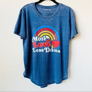 Freeze Blue VTG 70's Inspired Graphic Burnout Tee